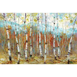 'Aspen Chorus' Painting Print on Wrapped Canvas by Three Posts