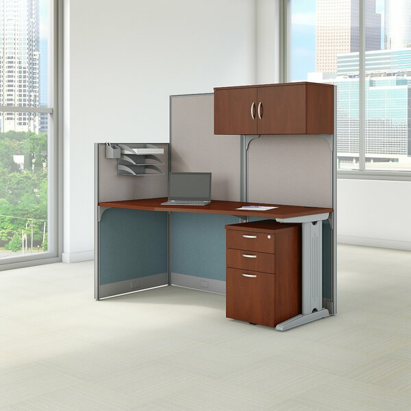Office in an Hour Straight Workstation with Storage by Bush Business Furniture