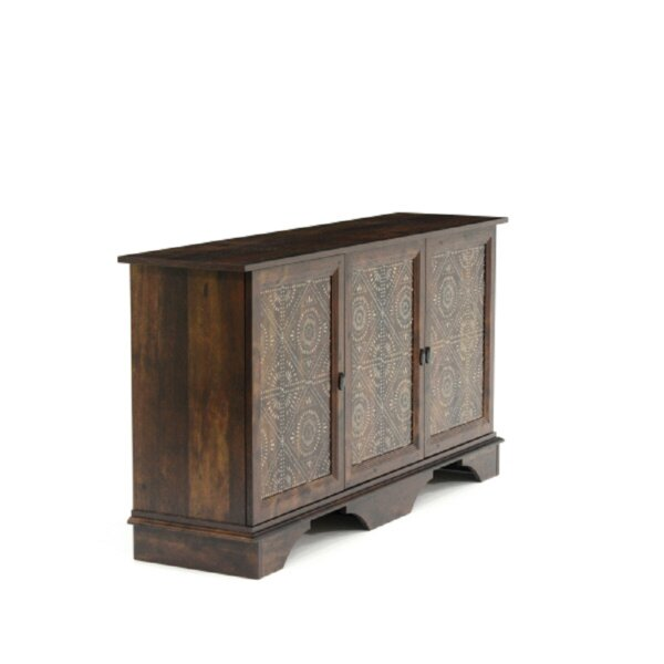 Hilde 3 Door Accent Cabinet by Bungalow Rose Bungalow Rose