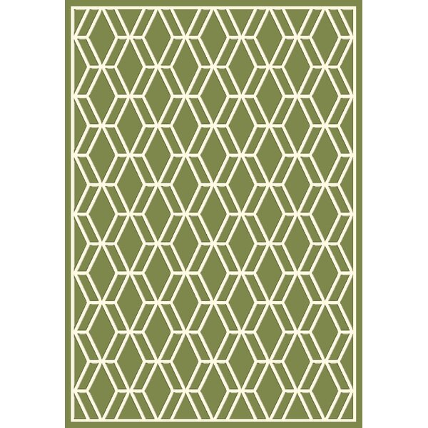 Trend Green Geometric Area Rug by Dynamic Rugs