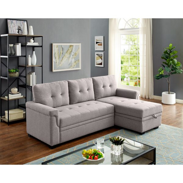 Modern Beautiful Whitby Reversible Sleeper Sectional by Ebern Designs by Ebern Designs