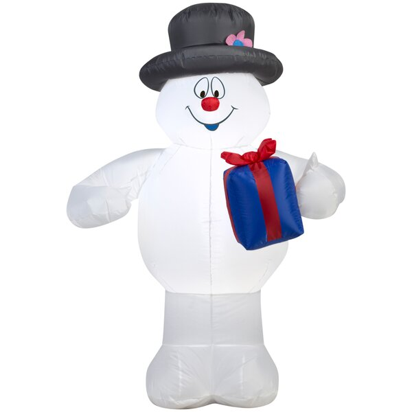 Airblown Frosty with Present Inflatable by Gemmy I