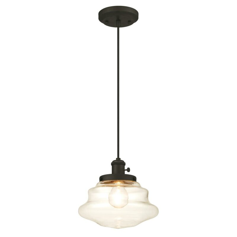 Superieur 1 Light Schoolhouse Pendant