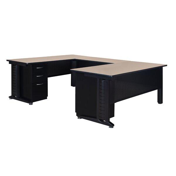 Stivers Contemporary Double Pedestal Corner Desk by Red Barrel Studio