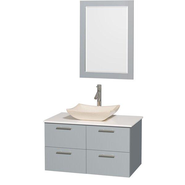 Amare 36 Single Bathroom Vanity Set with Mirror by Wyndham CollectionAmare 36 Single Bathroom Vanity Set with Mirror by Wyndham Collection