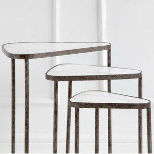 Compare prices Lisk Tribus 3 Piece Nesting Tables ByBrayden Studio