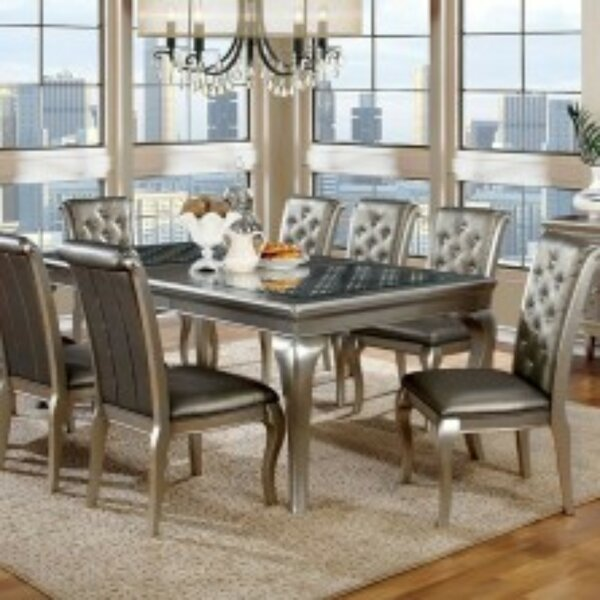 Suzan Transitional Solid Wood Dining Table by House of Hampton