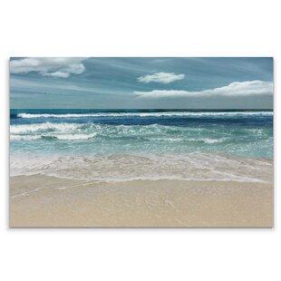 Carolines Treasures Beach Watercolor Waves Wall Hook Small Multicolor