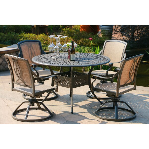 Balsamo Aluminum 5 Piece Dining Set by Canora Grey