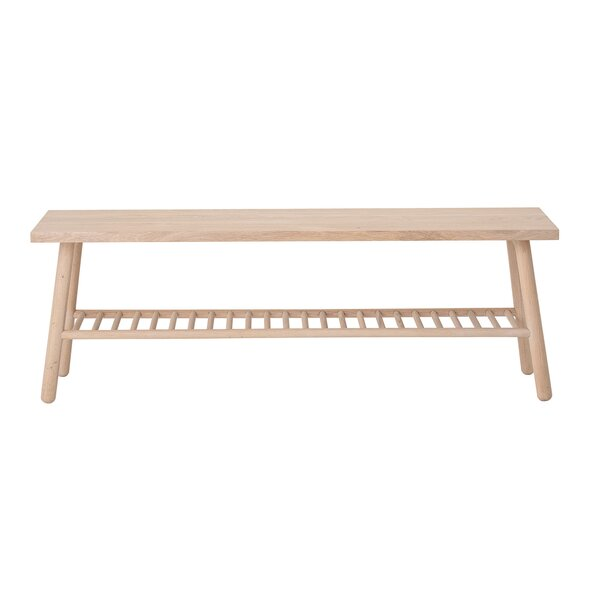Mair Solid Wood Shelves Storage Bench