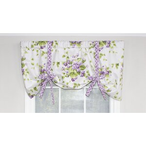 Sweet Violets Tie-Up Curtain Valance