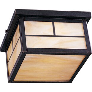 Compare & Buy Boricco 2-Light Outdoor Flush Mount By Loon Peak