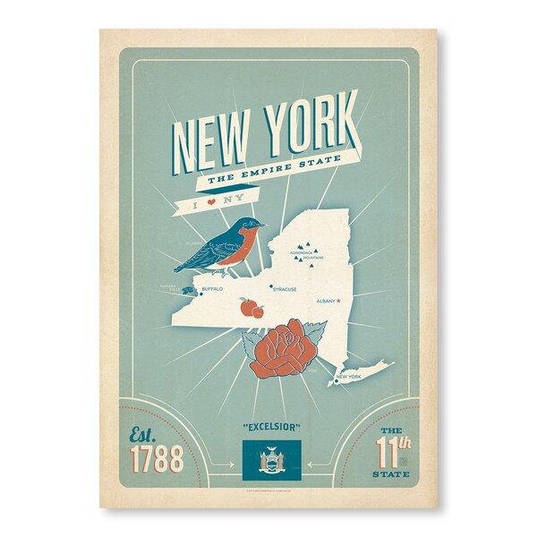 State Pride Print: New York Vintage Advertisement by East Urban Home
