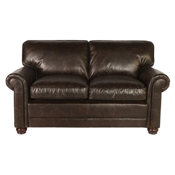 Jakey Leather Loveseat by Darby Home Co
