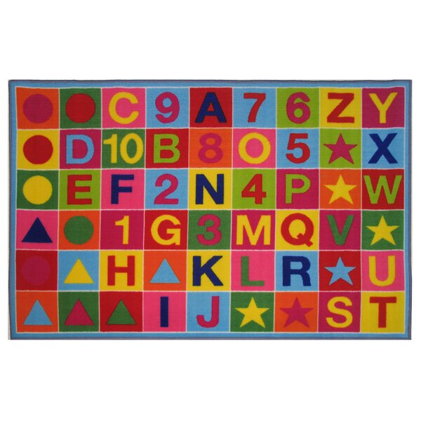 Fun Time Alphanumeric Fun Area Rug by Fun Rugs