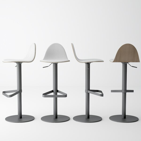 Ballindam Adjustable Height Swivel Bar Stool by Orren Ellis