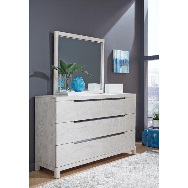 Isse 6 Drawer Double Dresser with Mirror by Brayden Studio