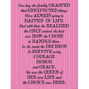 Queen of Her Own Life Quote by Kelissa Semple Textual Art on Wrapped Canvas by Buy Art For Less