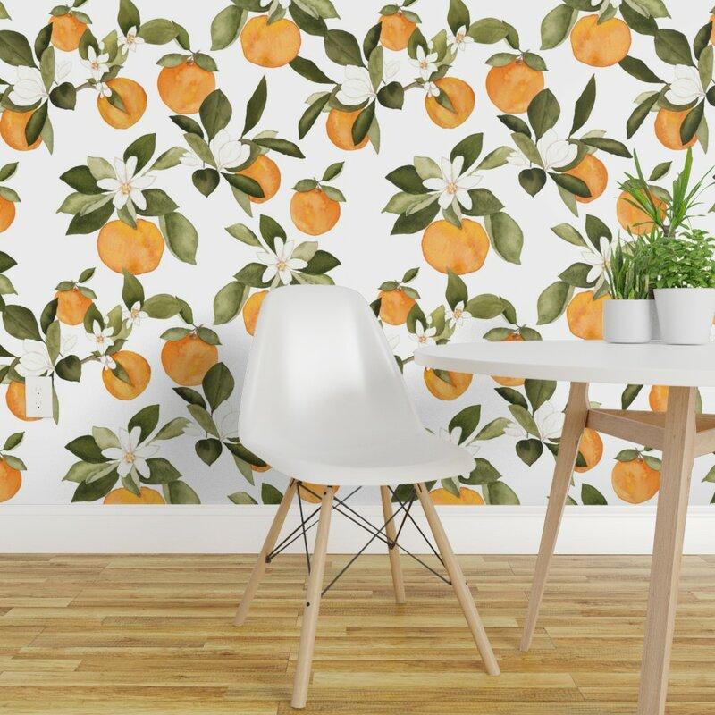 Littleville+Oranges+Removable+Wallpaper+Panel