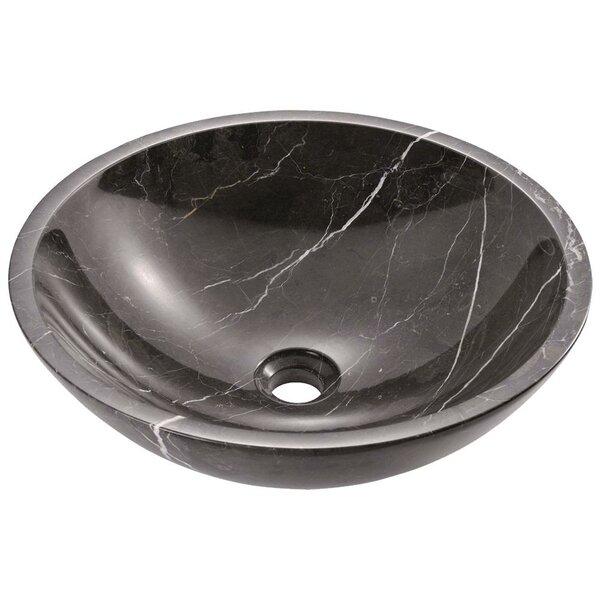 Stone Circular Vessel Bathroom Sink by MR Direct
