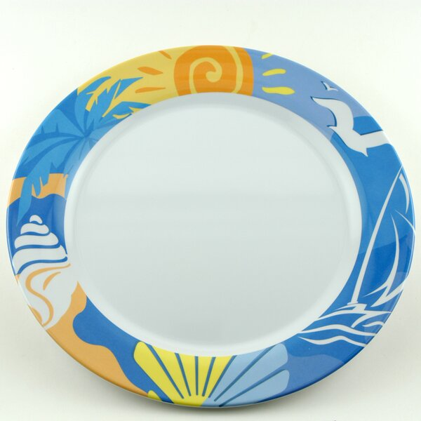 Decorated Melamine Ocean Breeze Non-skid Platter (Set of 2) by Galleyware Company