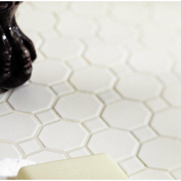 Osmond Random Sized Ceramic Mosaic Tile in Matte White Sheet by Itona Tile