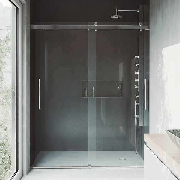 Caspian 61 x 73.5 Sliding Adjustable Frameless Shower Door by VIGO