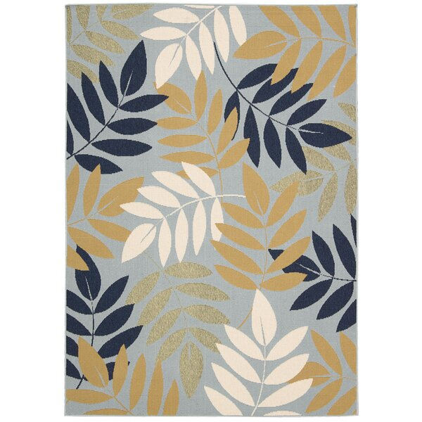 Lewis Blue Indoor/Outdoor Area Rug by Charlton Home