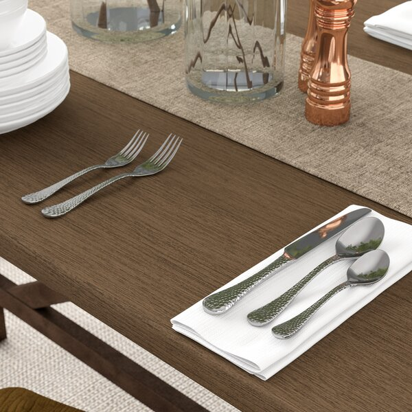 Corbin 20-Piece Hammered Flatware Set by Birch Lane™