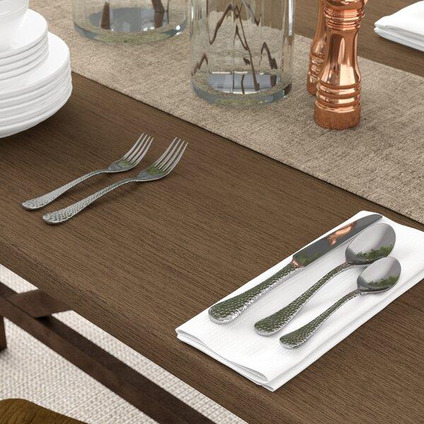 Corbin 20-Piece Hammered Flatware Set by Birch Lane™
