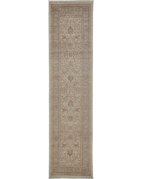One-of-a-Kind Danger Oushak Hand-Knotted Ivory Area Rug by Isabelline