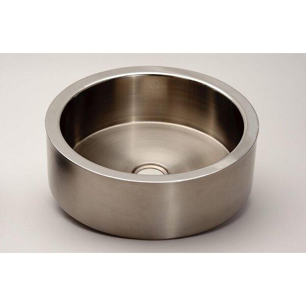 Zero Metal Circular Vessel Bathroom Sink by Maestro Bath