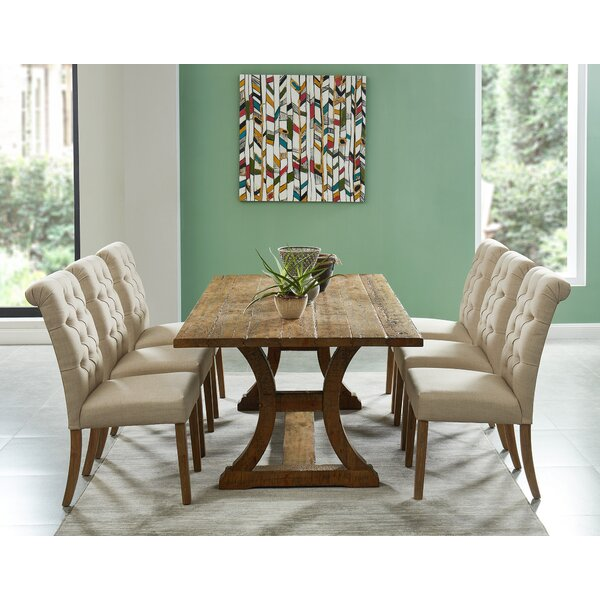 Gremillion 7 Piece Solid Wood Dining Set by Gracie Oaks
