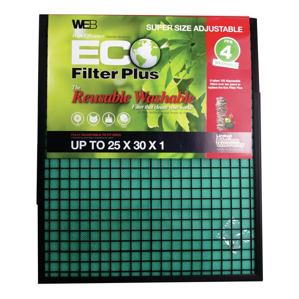 Eco Plus Permanent Electrostatic Adjustable Air Filter by WEB Products