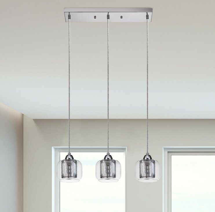 Orren Ellis Pirton 3-Light Kitchen Island Pendant