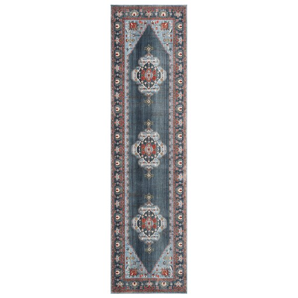 Pray Vintage Persian Cotton Blue Area Rug by World Menagerie