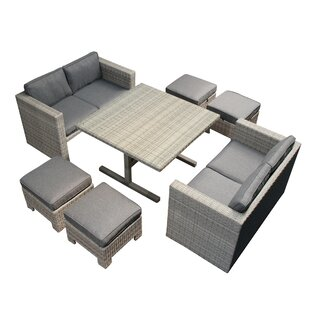 Halleck 5 Piece Rattan Sofa Set with Cushions By Ivy Bronx