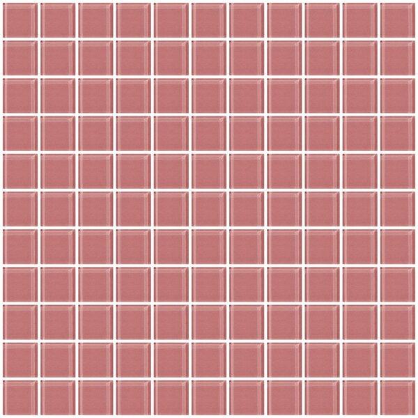 1 x 1 Glass Mosaic Tile in Mauve Pink by Susan Jablon