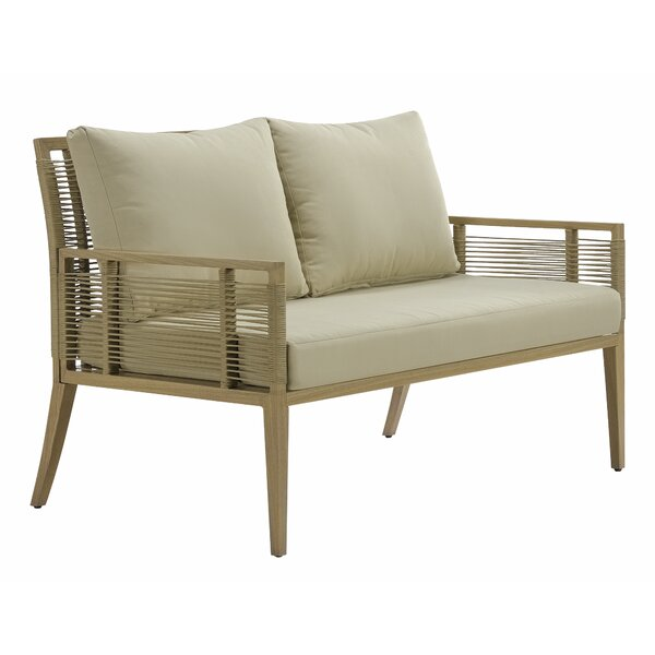 Angelo Patio Loveseat with Cushions by Rosecliff Heights