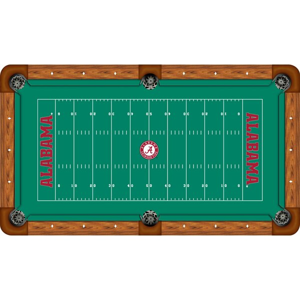 NCAA Football Field Recreational Billiard Table Felt by Wave 7