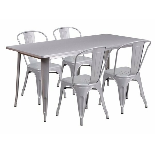 Dimitri Rectangular 5 Piece Dining Set by Zipcode Design