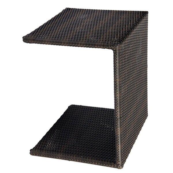 All-Weather Wicker Side Table by Woodard