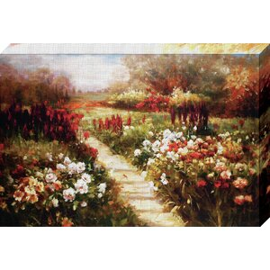 'My Neighbor's Meadow' by Ian Cook Painting Print on Wrapped Canvas by North American Art