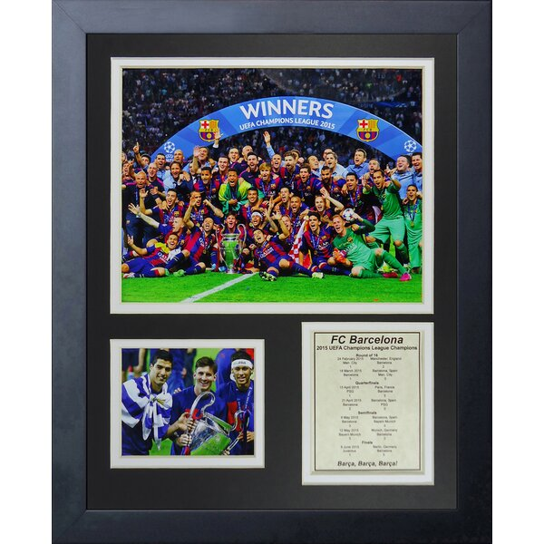 FC Barcelona 2015 UEFA Champions League Winners Framed Memorabilia by Legends Never Die