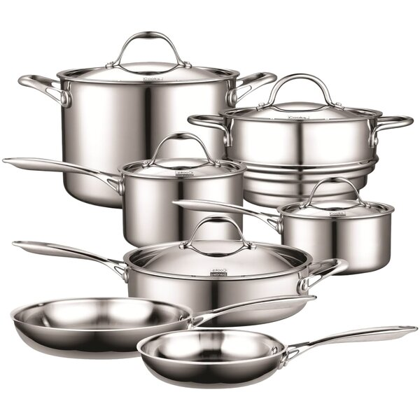 12 Piece Multi-Ply Clad Stainless-Steel Cookware Set by Cooks Standard