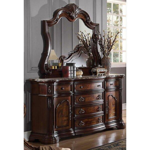 Fletcher 6 Drawer Combo Dresser with Mirror by Astoria Grand