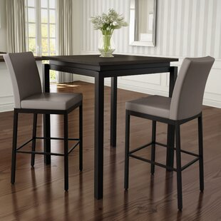 Huizenga 3 Piece Counter Height Pub Table Set & Modern Pub Table Sets | AllModern