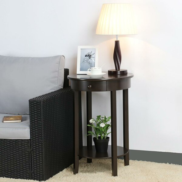 Nikolas End Table with Storage by Charlton Home