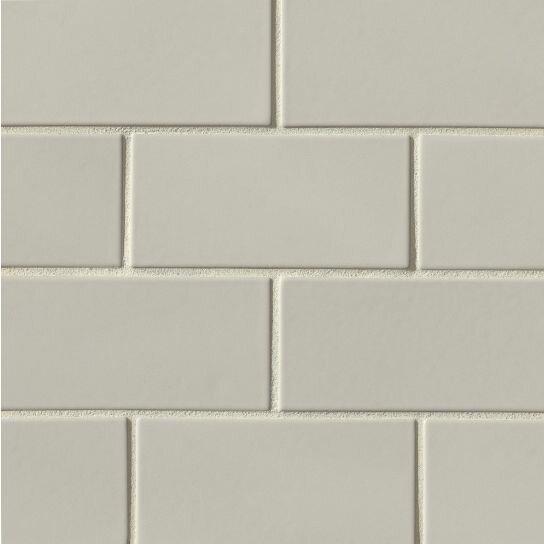 Portofino 3 x 6 Ceramic Subway Tile in Gray by Grayson Martin