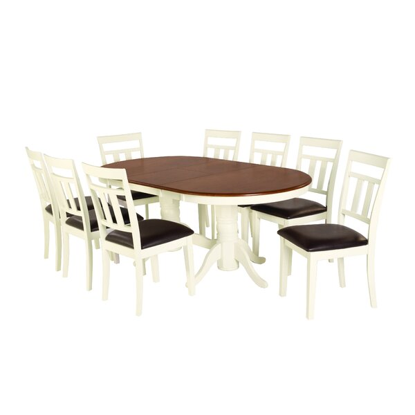 Bellino 9 Piece Extendable Solid Wood Dining Set by August Grove August Grove